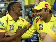 Dwayne Bravo and MS Dhoni