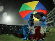 Rain halts the game at Feroz Shah Kotla