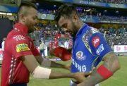 Hardik Pandya and KL Rahul exchange their jerseys