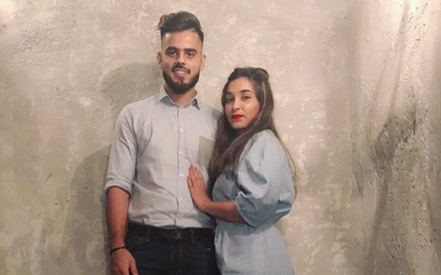 Nitish Rana with his girlfriend