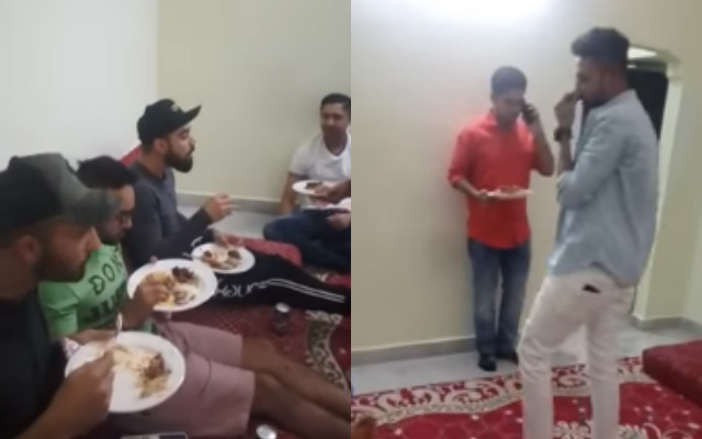 Virat Kohli along with RCB teammates enjoy Hyderabadi biriyani at Mohammed Siraj's house