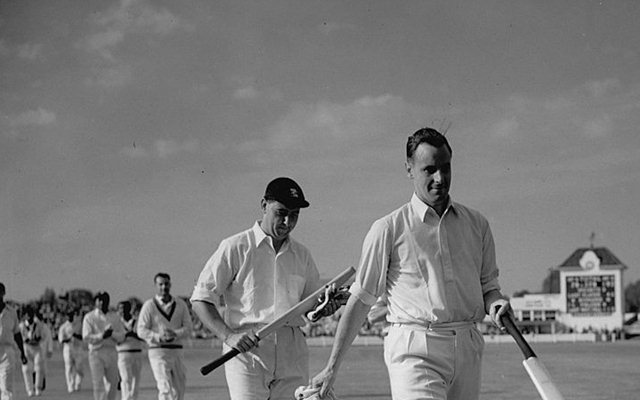 English cricketers Peter May (1929 - 1984) and Colin Cowdrey (1932 - 2000)