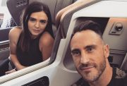 Faf du Plessis with his wife Imari