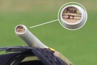'F**k it,' written on Jos Buttler's bat handle