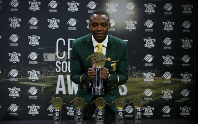 Kagiso Rabada bags the SA cricketer of the year award