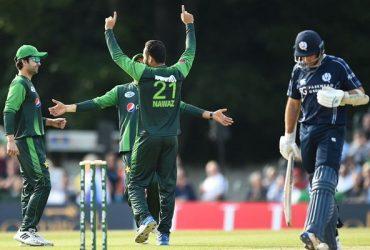 Mohammad Nawaz celebrates a wicket