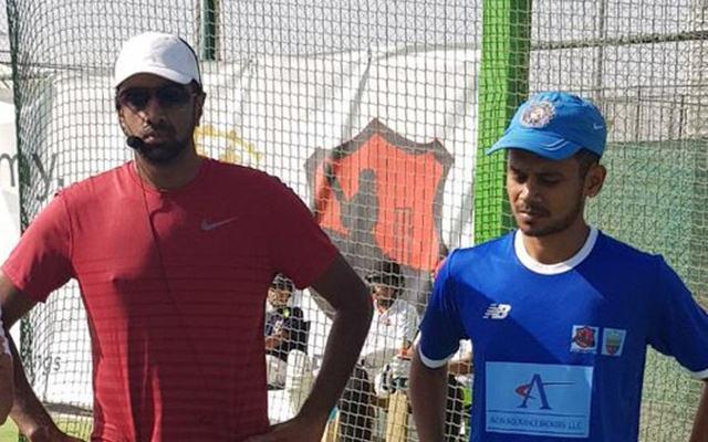Raghavan Aravind with Ravi Ashwin