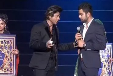 Shah Rukh Khan and Virat Kohli during the IPL swayamvar