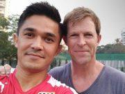 Sunil Chhetri and Jonty Rhodes