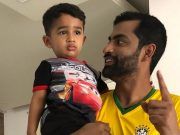 Tamim Iqbal with his son