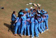Team India celebrates the victory