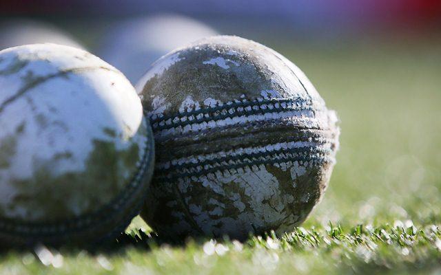 A white cricket ball