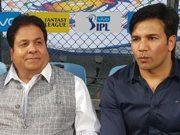 Rajeev Shukla & his assistant Mohammed Akram Saifi