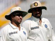 Sachin Tendulkar and Harbhajan Singh