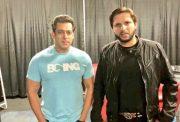 Shahid Afridi with Salman Khan