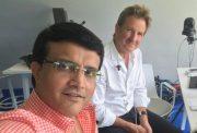 Sourav Ganguly with Mark Nicholas