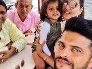 Suresh Raina and his family.