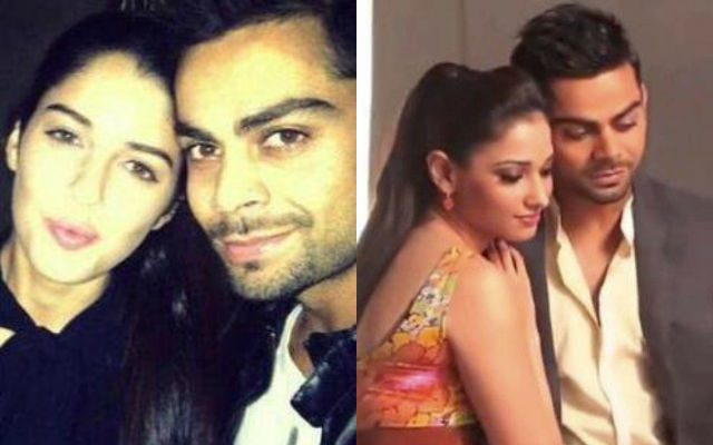 Virat Kohli with Izabelle Leite and Tamannaah Bhatia
