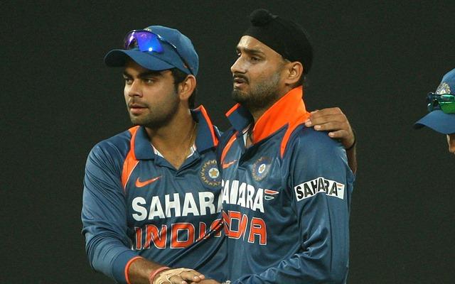 Virat Kohli and Harbhajan Singh