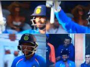 Yuzvendra Chahal raises his bat