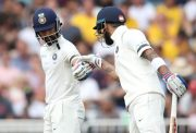 Indian batsmen Ajinkya Rahane and Virat Kohli