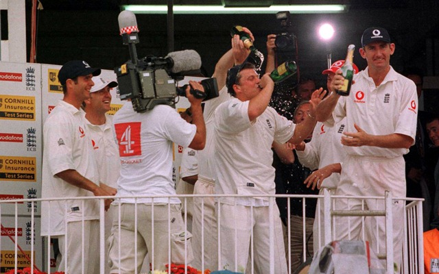 England team celebration