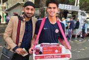 Harbhajan Singh & Arjun Tendulkar