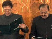 Former Pakistan captain Imran Khan took oath as 22nd Prime Minister of Pakistan