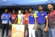 Karnataka Premier League KPL captains with the trophy