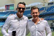Kevin Pietersen and Brett Lee