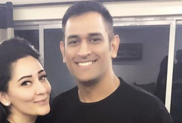 Manyata Dutt with MS Dhoni in Dubai