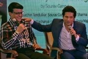 Indian cricketers Sourav Ganguly, Sachin Tendulkar