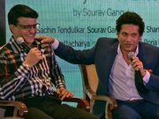 Indian cricketers Sourav Ganguly, Sachin Tendulkar