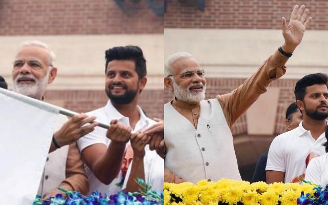 Suresh Raina and Narendra Modi