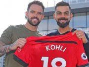 Virat Kohli was gifted a memorable customised Southampton FC jersey