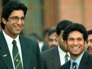 Wasim Akram and Sachin Tendulkar