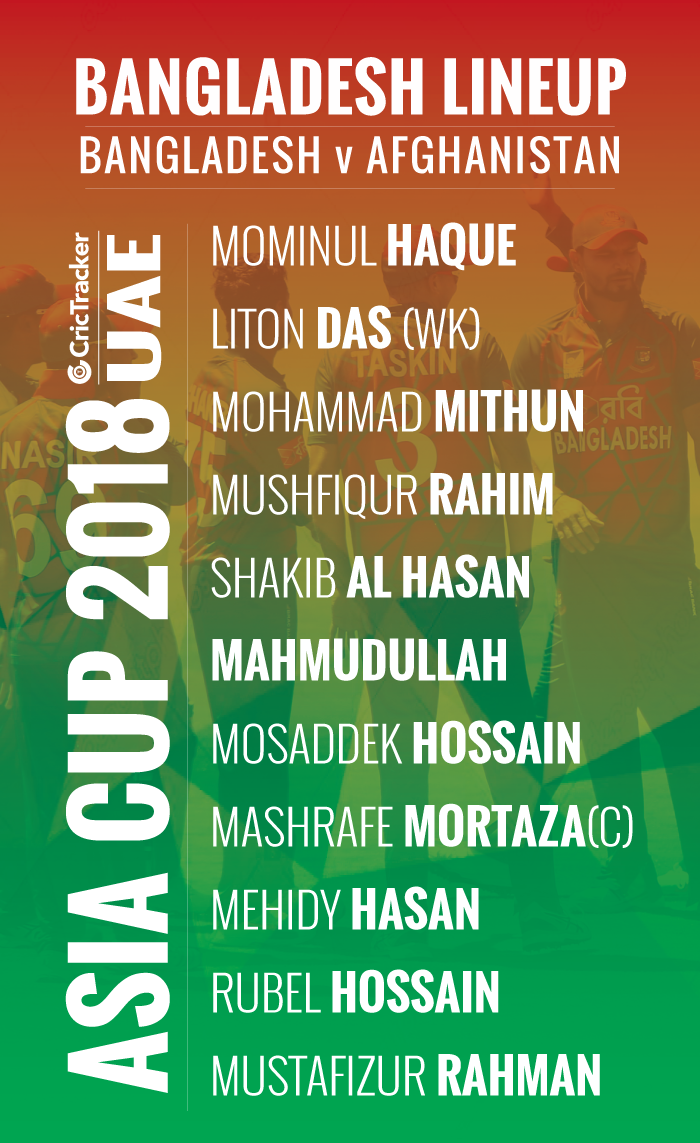 playing-xi-Bangladesh-FOR-ASIA-CUP-2018-MATCH-BETWEEN-Bangladesh-vs-Afghanistan