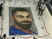 Clay Lamp Mosaic Of Virat Kohli
