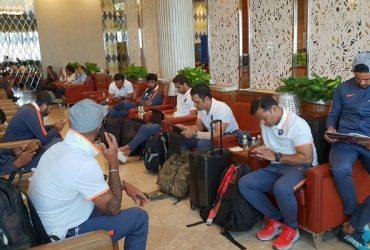Indian players Jasprit Bumrah