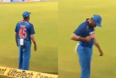 Rohit Sharma gesture