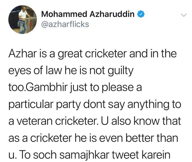 Mohammad Azharuddin Twitter