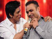 Shah Rukh Khan and Virender Sehwag