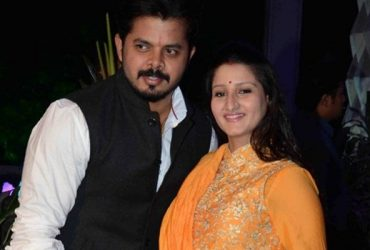 Sreesanth and his wife Bhuvneshwari