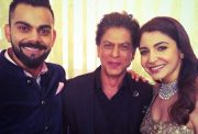 Virat Kohli, Shah Rukh Khan and Anushka Sharma