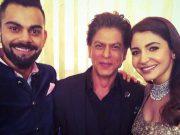 Virat Kohli, Shah Rukh Khan and Anushka Sharma