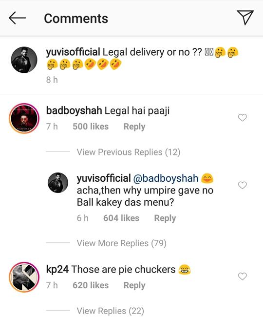 Yuvraj Singh's comment
