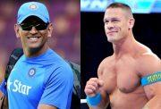 MS Dhoni and John Cena