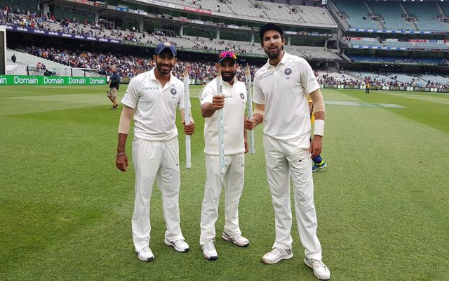 Mohammed Shami, Ishant Sharma and Jasprit Bumrah
