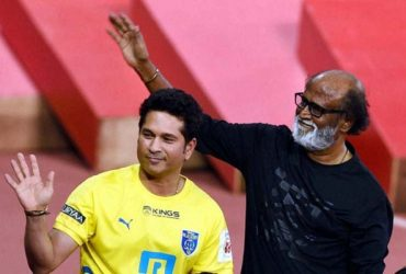 Sachin Tendulkar and Rajinikanth