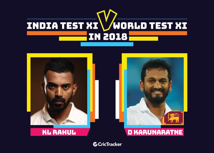 India-Test-XI-vs-World-Test-XI-in-2018-2-Dimuth-Karunaratne-V-KL-Rahul